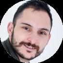 Alessio Bagiardi Italian male voiceover Headshot