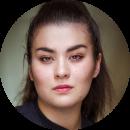 Amelia Kinu Muus, German, New, Female, Voiceover, Headshot