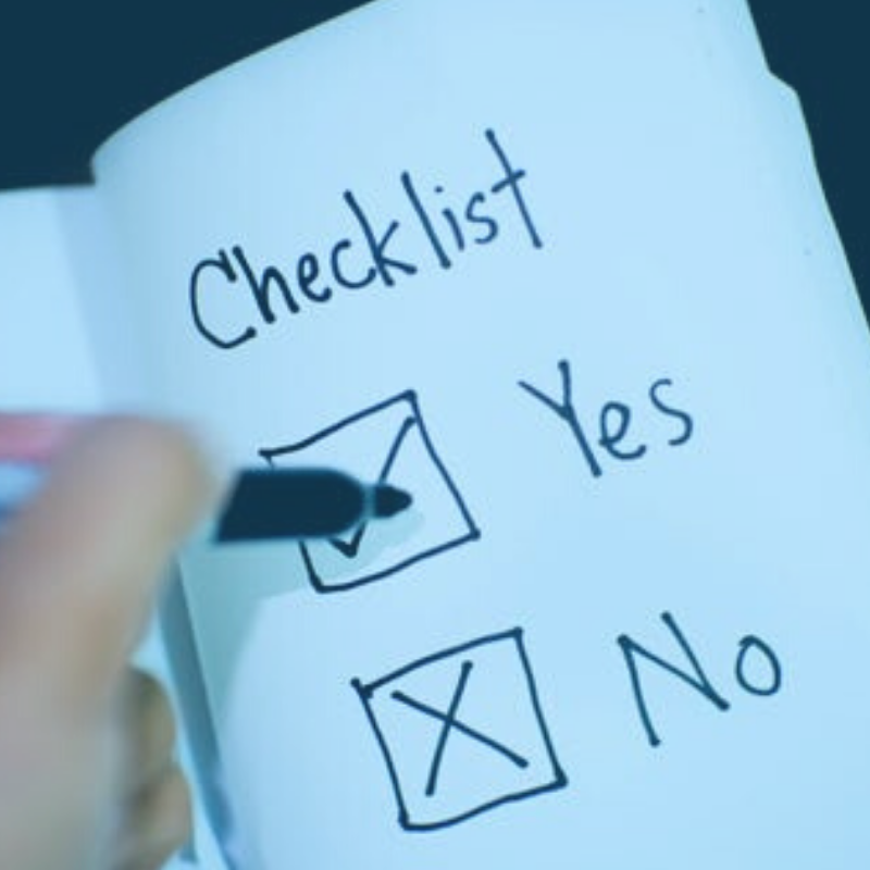 Image of a checklist for voice actors