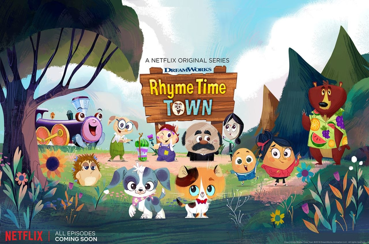 Official Image for Rhyme Time Town, featuring our animation voices