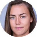 Sara Luna Leconte French female voiceover Headshot