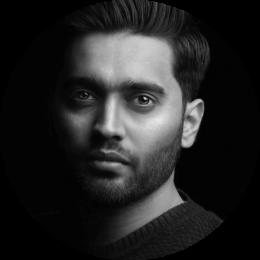 Syed Raza, Hindi, Urdu, Voiceover, New, Male, Headshot