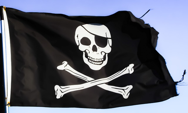 A pirate flag for pirate voices on Talk Like a Pirate Day.