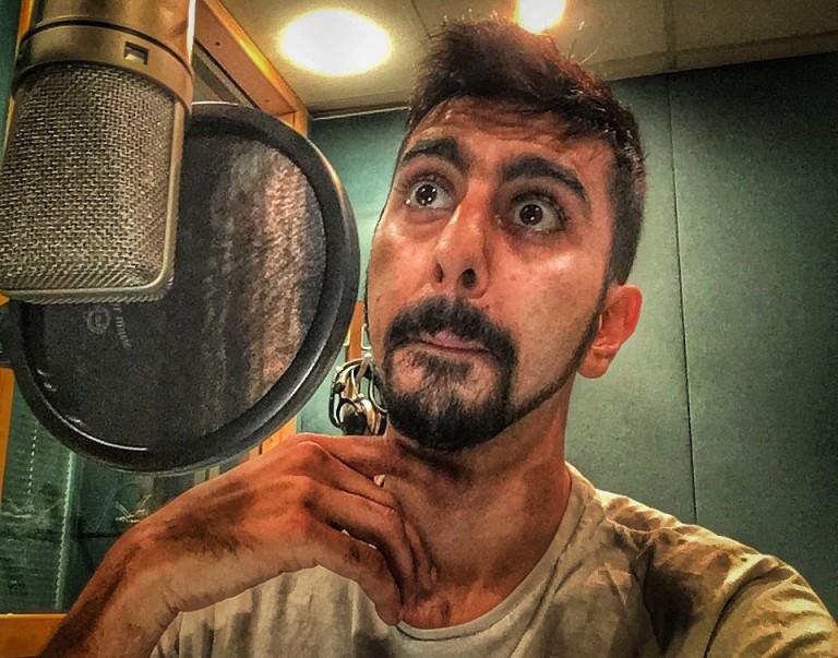 Voiceover Artist Homer Todiwala in Studio