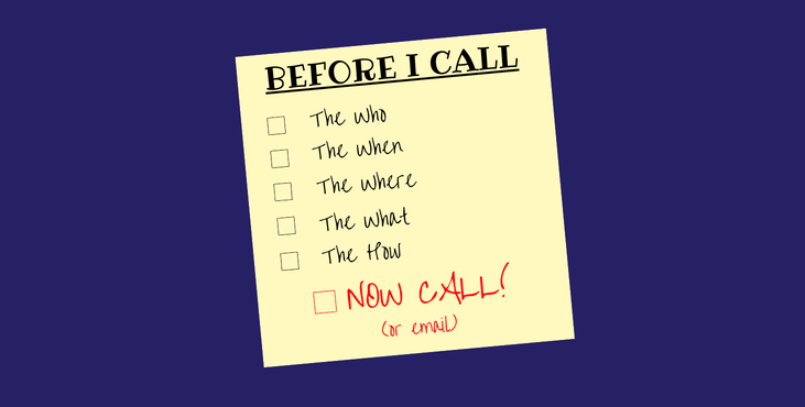 Voiceover Booking Checklist Post It Note