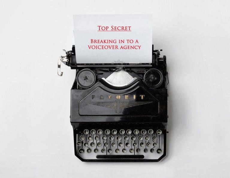 voiceover agency list typewriter